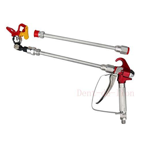 Airless Pistole Hochdruckfarbe + Sitzdüse für Titan/Wagner/Graco + 2 x 30 cm Schaft Verlängerung für Drucksprüher Airless Düse Verlängerung Pistole Farbe