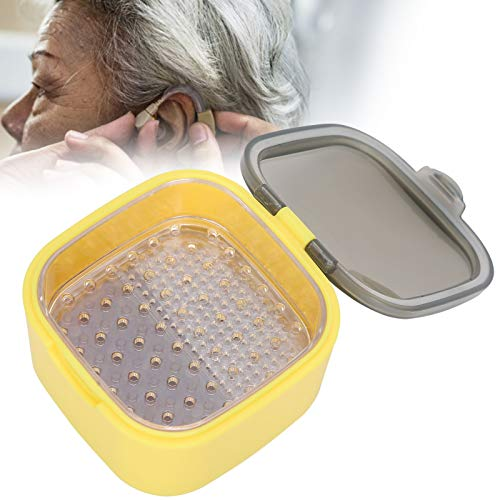 Hearing Aid Dehumidifier, Elderly Child Hearing Aid Drying Box, Portable Hearing Aid Hearing Amplifier Drying Box Set Small Container for Home or Travel