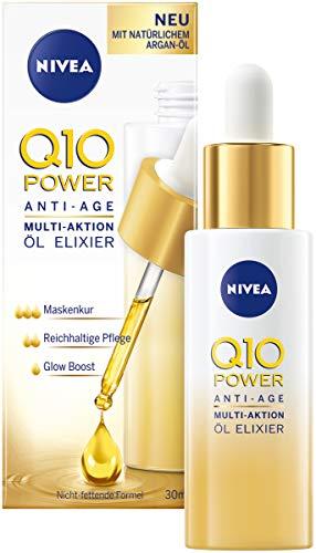 NIVEA Q10 Power Anti Age Multi-Aktion Öl Elixier für trockene bis sehr trockene Haut im 1er Pack (1 x 30 ml), Anti-Falten Nachtpflege, nicht fettende Gesichtspflege