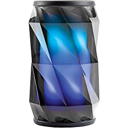 iHome iBT74 Smart Bluetooth Speaker - With Alexa Built-In and Color Changing LED Lights - Perfect Portable Audio Device for Parties, Outdoors, and Other Events, Black, iBT74BXXC