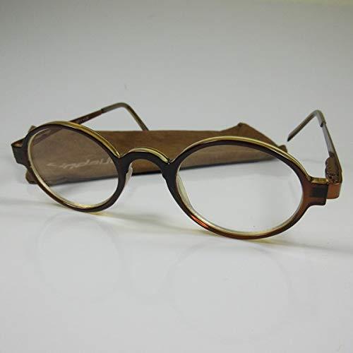 LINDAUER Elegante Lesebrille +3,0 braun Metall-Flexbügel Fertigbrille SIE & IHN