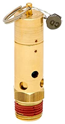 "Control Devices SN Series Brass ASME Safety Valve, 200 psi Set Pressure, 1/2"" Male NPT from Control Devices"