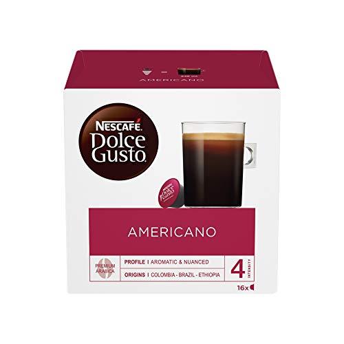 Nescafe Americano Cápsulas para máquina Dolce Gusto Ref 12117294 Pack 48 (3x16 cápsulas = 48 bebidas)