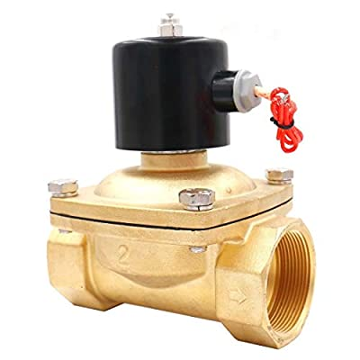 Baomain 2 inch AC 110V Brass Electric Solenoid Valve Water Air Fuels NC Valve from Baomain Electric Co.,Ltd