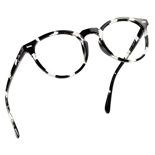 LifeArt Blaue Licht Blockieren Brille, Anti-Augen-Müdigkeit, Computer Lesebrillen, Gaming Brille, TV Brille für Frauen Männer, Anti UV, Anti Glare (Schwarz-Weiß, 1.50 Vergrößerung)