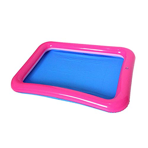 Topwon Inflatable Sand for Kids/Sand Tray/Sand Molds/Inflatable Sand/Portable Sand Tray /Sand Tray Lid (23.6×17.7Inch)