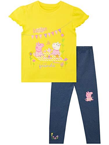 Peppa Pig Camiseta y Leggings para niñas Multicolor 3-4 Años