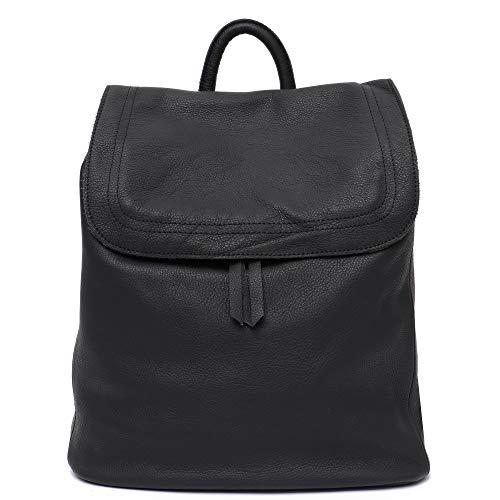 Stepheecath Damen Leder-Handtasche mit Klappe für 33 cm (13 Zoll) Laptops, Vintage, Retro-Stil, Wachs, Kuhleder, Reißverschluss 12.2