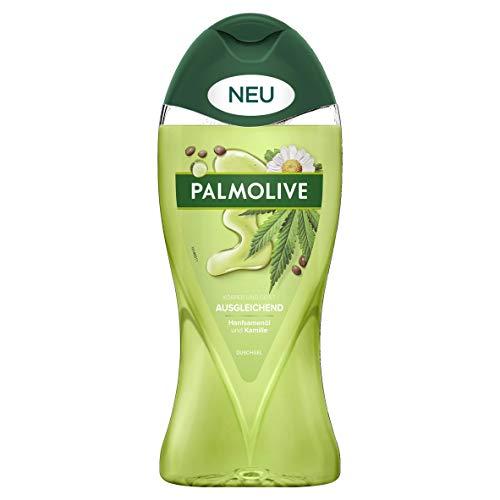 Palmolive Duschgel Ausgleichend, 1 x 250 ml - Verwöhnendes Duschgel mit Hanfsamenöl und Kamille für sanft weiche Haut, geeignet für jeden Hauttyp
