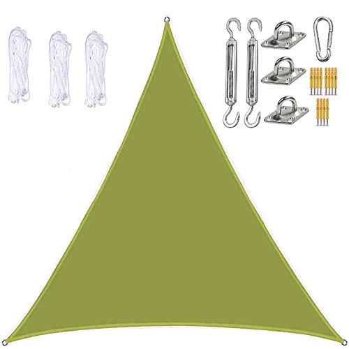 Y-M-H Triangle Sun Shade Spail Impermeable Y Transpirable Pasta Solar con Dosel De La Soldea con Un Cable Libre Y Accesorios De Acero Inoxidable 98% Bloqueo UV para PERGOLA Backyard Garden Yard Patio