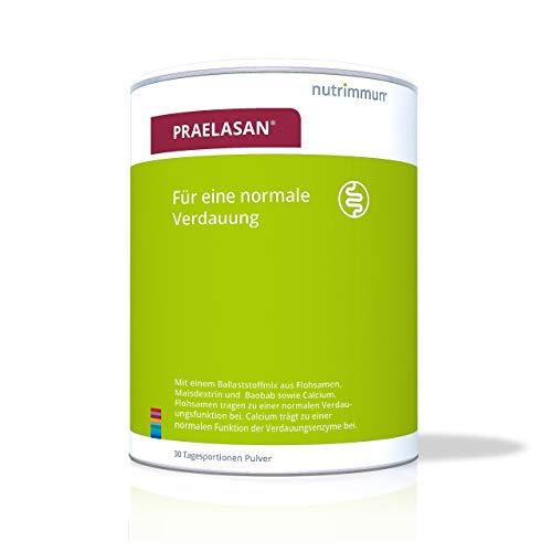 nutrimmun PRAELASAN (420g) – Nahrungsergänzungsmittel für eine normale Verdauung – Ballaststoffmix aus Flohsamen, Maisdextrin, Baobab sowie Calcium – Zur Ergänzung einer ballaststoffreichen Ernährung