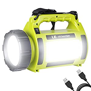 LE Rechargeable LED Camping Lantern, 1000LM, 5 Light Modes, 3600mAh Power Bank
