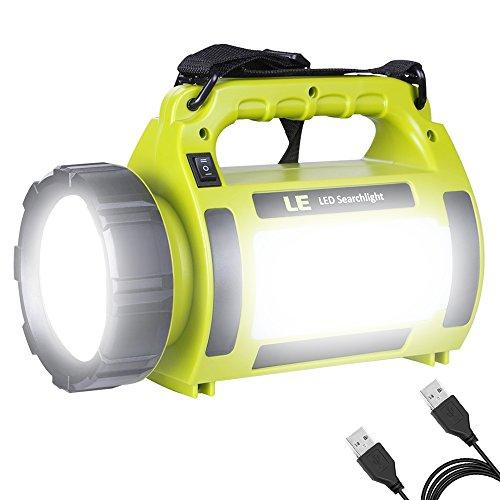 LE Lampe Camping LED, Lampe Torche Rechargeable 3600mAh, 5 Modes d'Éclairage 1000lm, Fonction de Batterie Externe, Lanterne Camping Puissante Étanche pour Bricolage, Randonnée, Secours