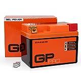 GP-PRO Batería de Gel 12V 5Ah GTX4L-BS (similar a YB4L-B / YTX5L-BS / YTX4L-BS)