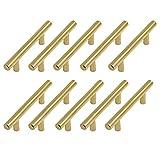 Margueras - Lote de 10 tiradores de armario para dormitorio (acero inoxidable, con tornillos, agujeros 96 mm)