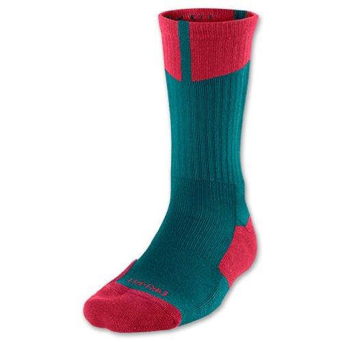 Nike Jordan Dri-FIT Crew - Calzini da uomo, Uomo, 530977-387_M, Mare Oscuro/Gym Rosso, M
