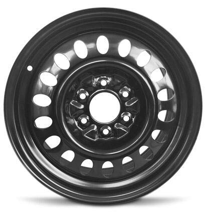 Road Ready Car Wheel for 2002-2004 Oldsmobile Bravada 17 Inch 6 Lug Black Steel Rim Fits R17 Tire