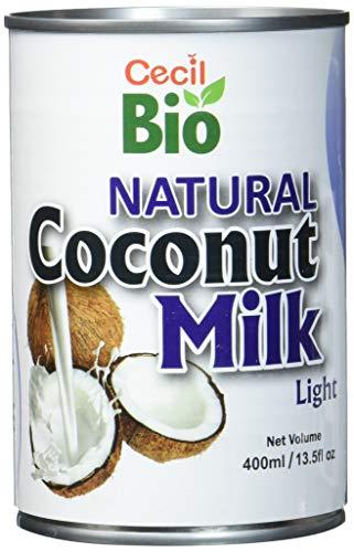 Cecil Bio Lot de 3conserves de lait de coco naturel, 9% de matière grasse