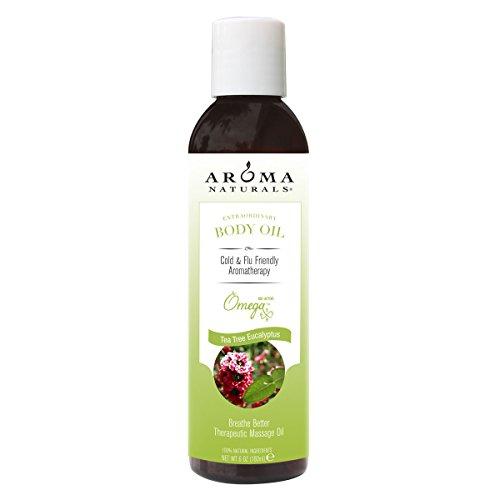 Huile extraordinaire Corps, Tea Tree Eucalyptus, 6 fl oz (180 ml) - Aroma Naturals