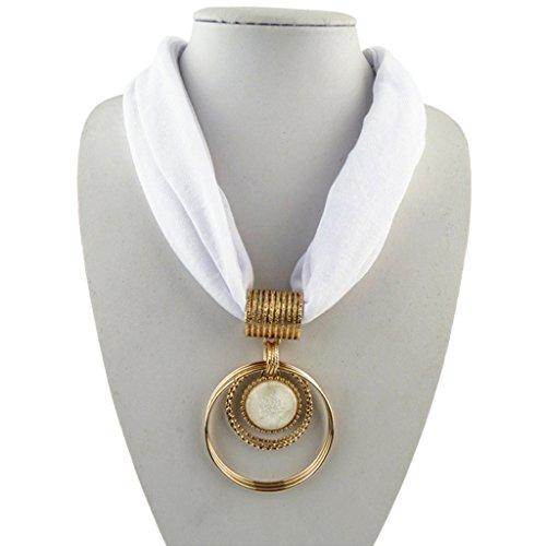 JAGENIE - Collar con Colgante de aleación de Corto, Estilo Vintage, de Cristal sintético, poliéster, 4, As Pictures Show
