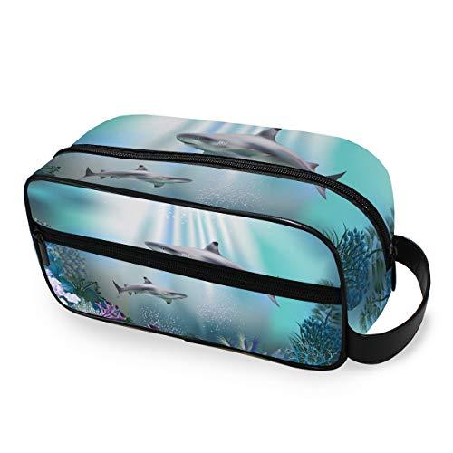 Trousse de toilette Trousse de maquillage Portable Outils Cosmétique Train Case Storage Organizer Ocean Blue Sea Animal Travel