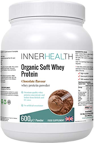 Premium UK Whey Protein Powder 600g (Chocolate) - Highest Grade Hormone-Free Milk, Sourced from EU & British Cows, No GMO's, Delicious High Protein, No Sugar. - Lean Muscle Mass Growth & Maintenance.