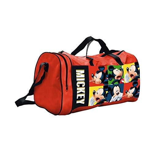 BORSA Borsone Topolino Mickey Mouse Disney Tote da Viaggio Bambino Palestra CM. 44X20 H.23 - 57891