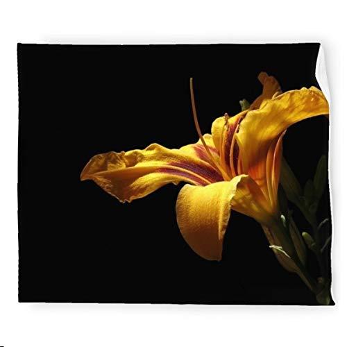 Daylily Blossom Bloom - Manta de franela para cama, suave, cálida, acogedora, colorida manta decorativa para sofá, 127 x 152 cm