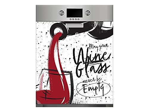Oedim Vinilo para Lavavajillas Copa de Vino, Vinilo Decorativo para lavavajillas, decoración para cocinas, Pegatina lavavajillas