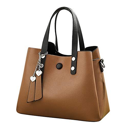 DDKK Crossbody Bags for Women,Soft PU Leather Tote Shoulder Bag Large Capacity Handbag Business Office Work Bag Best for Lightweight Travel