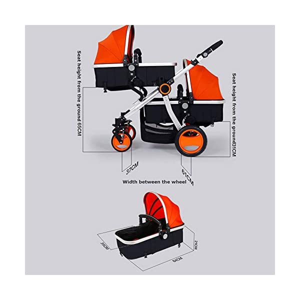 JXCC Double Strollers Baby Pram Tandem Buggy Newborn Pushchair Ultra Light Folding Child Shock Absorber Trolley Can Sit Half Lying 0-3 years old,50kg maximum -Safe And Stylish Red JXCC 1. {Four seasons can be} - The awning can be adjusted to multiple angles to easily cope with the sun 2.{sleeping basket multi-angle, two-way adjustable}: The sleeping basket can be adjusted from 0 to 175 degrees. The baby can sit in the mother's arms, can lie flat, can face the mother, or can face the scenery, suitable for all occasions. To meet the needs of 0-3 years old baby. 3. {Multiple shock absorption design} - Frame spring shockproof, rear wheel, two wheel brakes, wheel spring shockproof, baby safety 8