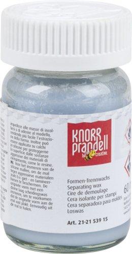 KnorrPrandell 1 FLACONE da 60 ML di Cera DISTACCANTE per FORMINE STAMPI in Silicone