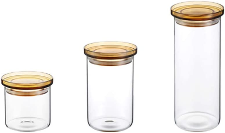 XYZZ Set 70% OFF Outlet of 3 Storage Inventory cleanup selling sale Jar Non-Toxic Food Grade Borosilicat High