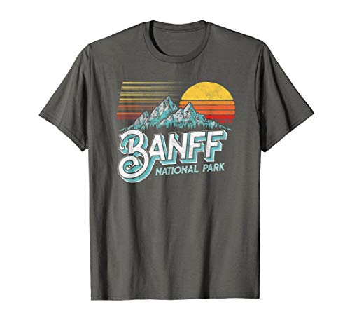 Banff National Park Alberta Canada Vintage Mountain T-Shirt