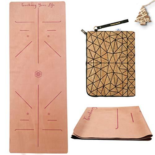 GOLDEN Esterilla de Yoga para Viajes, Plegable, Natural Caucho 1/17 Pulgadas - 1,5mm - Delgada, Absorbente, Antideslizante, para Yoga, Pilates, Ejercicios de Piso