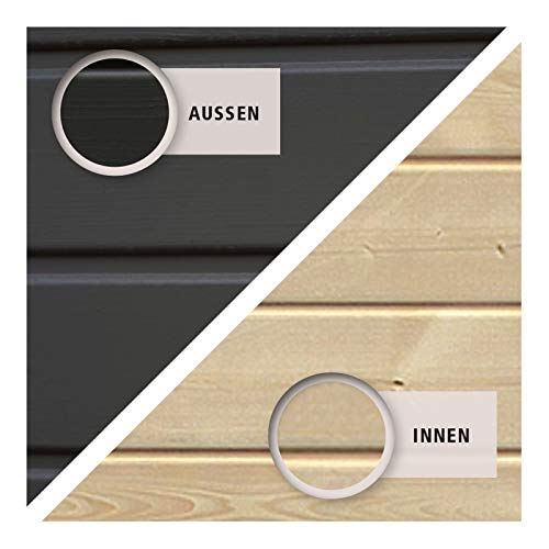 HORI® Gartenhaus Skagen aus Holz 275 x 275 cm