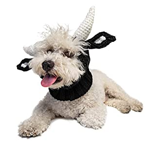 Zoo Snoods Bull Dog Costume – Neck and Ear Warmer Hood for Pets (Medium)