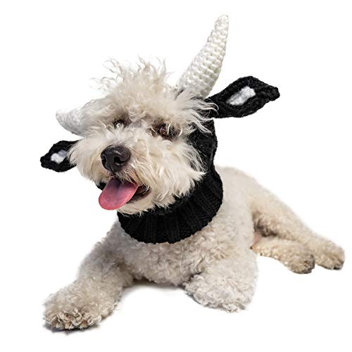 Zoo Snoods Bull Dog Costume - No Flap Ear Wrap Hood for Pets (Medium)