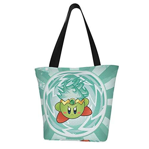Anime Kirby Plasma Super Smash Bros Women Totes Carry Bags Big Capacity Shoulder Handbags Messenger Backpacks Portable Webbing is Strong and Durable