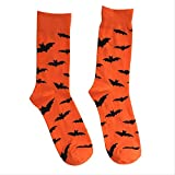 CHAOZHENG Bat Pumpkin Cartoon Socks Calcetines hasta la Rodilla para Hombres Halloween Cosplay...
