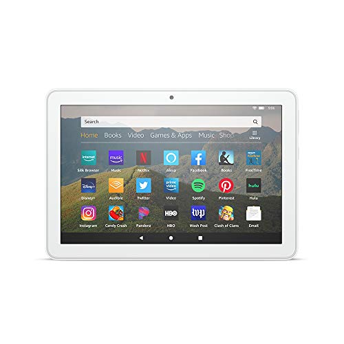 "All-new Fire HD 8 tablet, 8"" HD display, 32 GB, designed for portable entertainment, White"