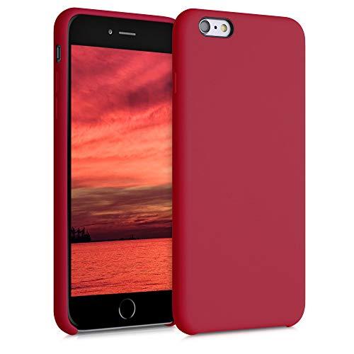 kwmobile Funda Compatible con Apple iPhone 6 Plus / 6S Plus - Carcasa de TPU para móvil - Cover Trasero en Rojo Persa