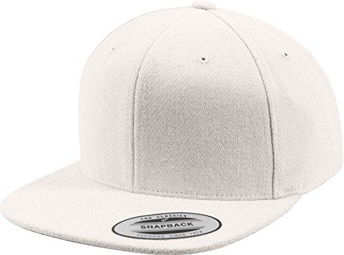 Flexfit Mütze Melton Wool Snapback, white, One Size