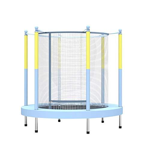 Rebounder Trampolines 55-inch Children's Trampoline Indoor Home Kindergarten Exercise Trampoline Baby Bounce Bed Fitness Toy with Protective Net Max Load 65kg Fitness Trampoline Exercise Equipment