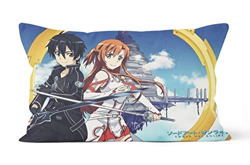 Sword Art Online - Funda de almohada de 50 x 75 cm, suave y cómoda