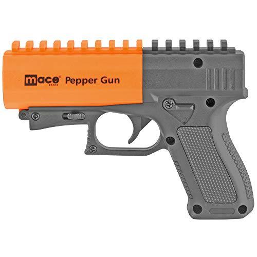 Mace Brand Pepper Gun 2.0 with Strobe LED, Black