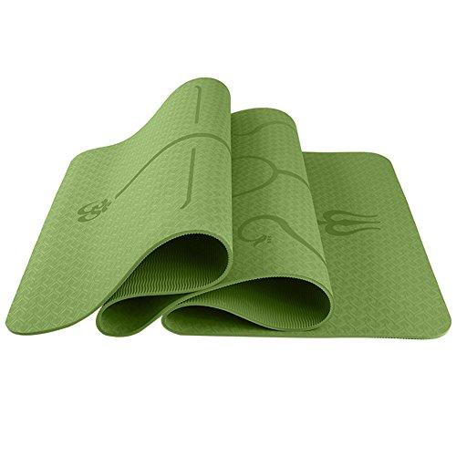 Leoie Yoga Bodybuilding 6 mm Multifuncional Protección Ambiental Yoga Pad TPE Yoga Mat Fitness Pad Body Line Estilo