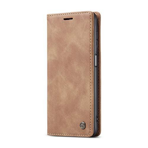 JMstore Funda Compatible con Samsung Galaxy A12 5G, Magnético Carcasa Funda Móvil Billetera Cuero Funda con Tapa Libro Caso Soporte Plegable (Marrón)