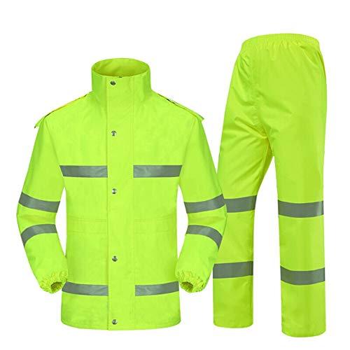 Werkkleding Hi Vis Viz Hi Viz VIS Hoge Zichtbaarheid 2 Toon Lange Mouw Polo Shirt Reflecterende Tape Veiligheid Werk Knop Ademend Lichtgewicht XXL