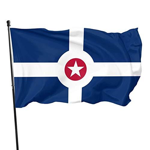 City of apolis Banderas de 3 x 5 pies Banderas para exteriores 100% poliéster translúcido de una sola capa de 3 x 5 pies